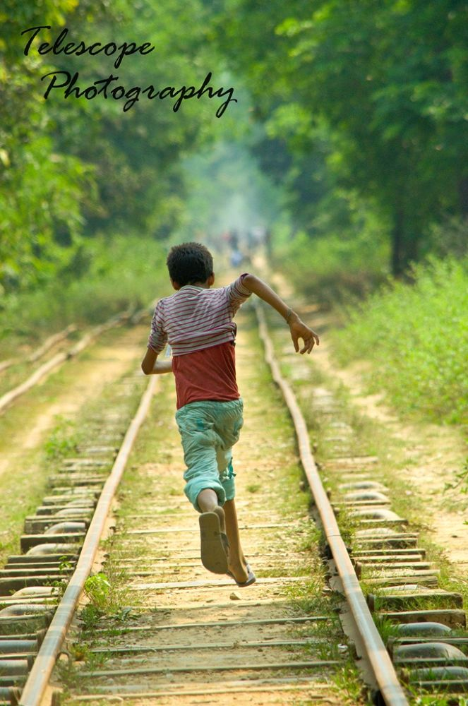 Photo in Sports #action #green #railway #childhood #sports