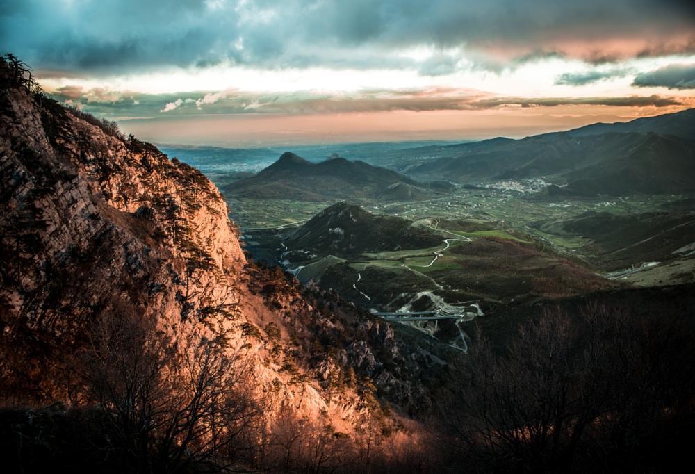 Photo in Landscape #mountain #sunset #tramonto #pollino #basilicata #lucania #sud #red #rosso