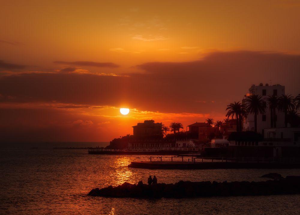 Photo in Cityscape #tramonto #sea