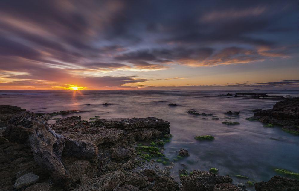 Photo in Lomo #sunset #seascape #seasade #beach #beachlife #summer