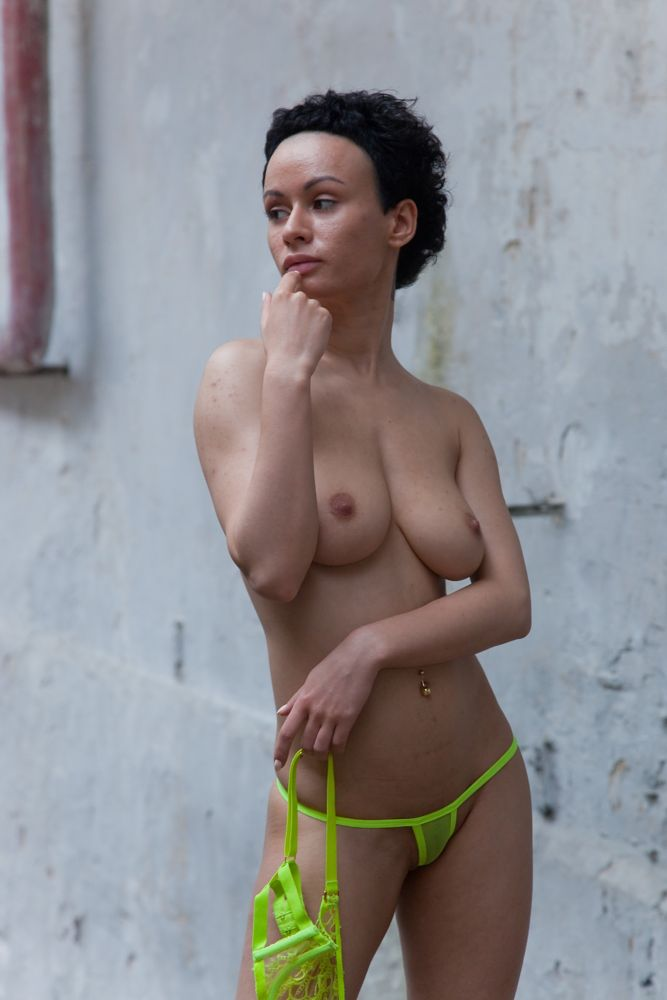 Photo in Nude with model Stasya Shpitz #stasya #shpitz #naked #boobs #posing #woman #model #green #yellow #breast #standing #bikini #panties #micro