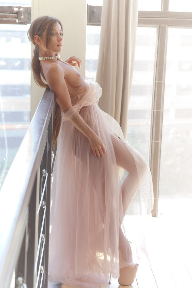 Photo in Nude with model Julianna Varnavskaya #eta_devushka #naked #sexy #bride #woman #female #pretty #transparent #cream #dress #varnavskaya #julianna