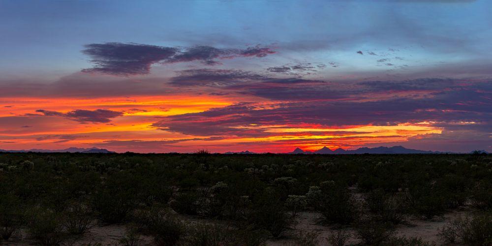 Photo in Landscape #tucson #tucsonaz #tucsonarizona #arizona #arizonasunset #tucsonsunset #azsunset #cloudfire #pinkclouds #purpleclouds #firesky #sunset #sunsetlovers #amazingsunset #panorama #sunsetpanorama