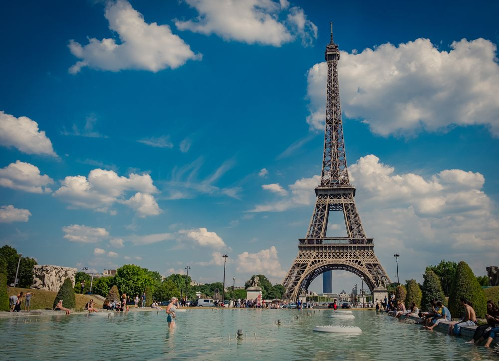Photo in Travel #paris #france #eiffel tower #clouds