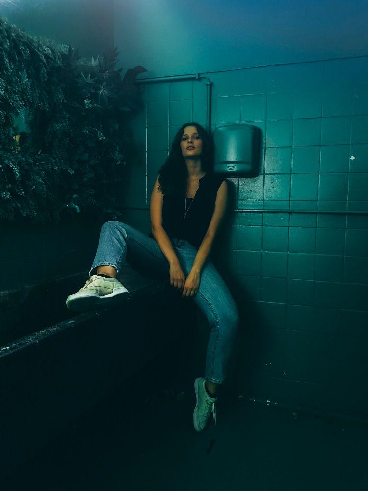 Photo in Portrait #portrait #girl #blue #color