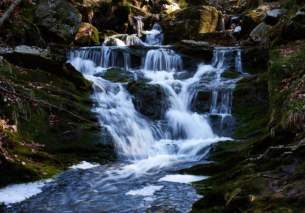 Photo in Landscape #waterfall #water #forest #river
