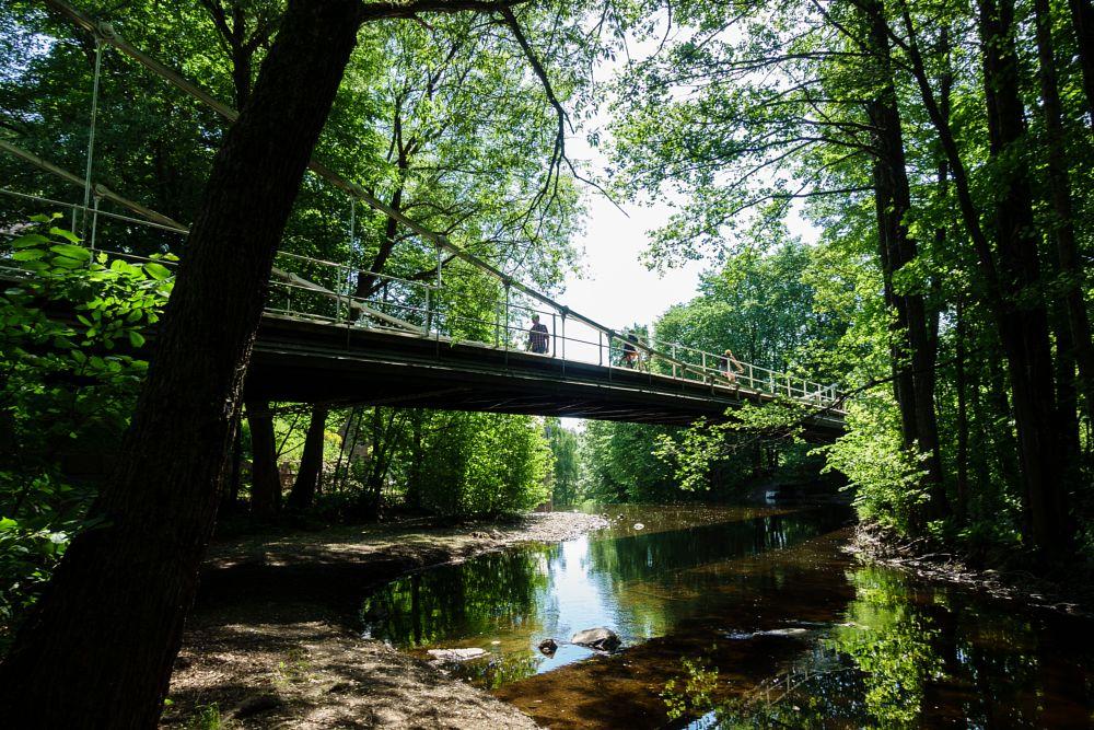 Photo in Landscape #akerselva #oslo #aamodtbridge #river #norway