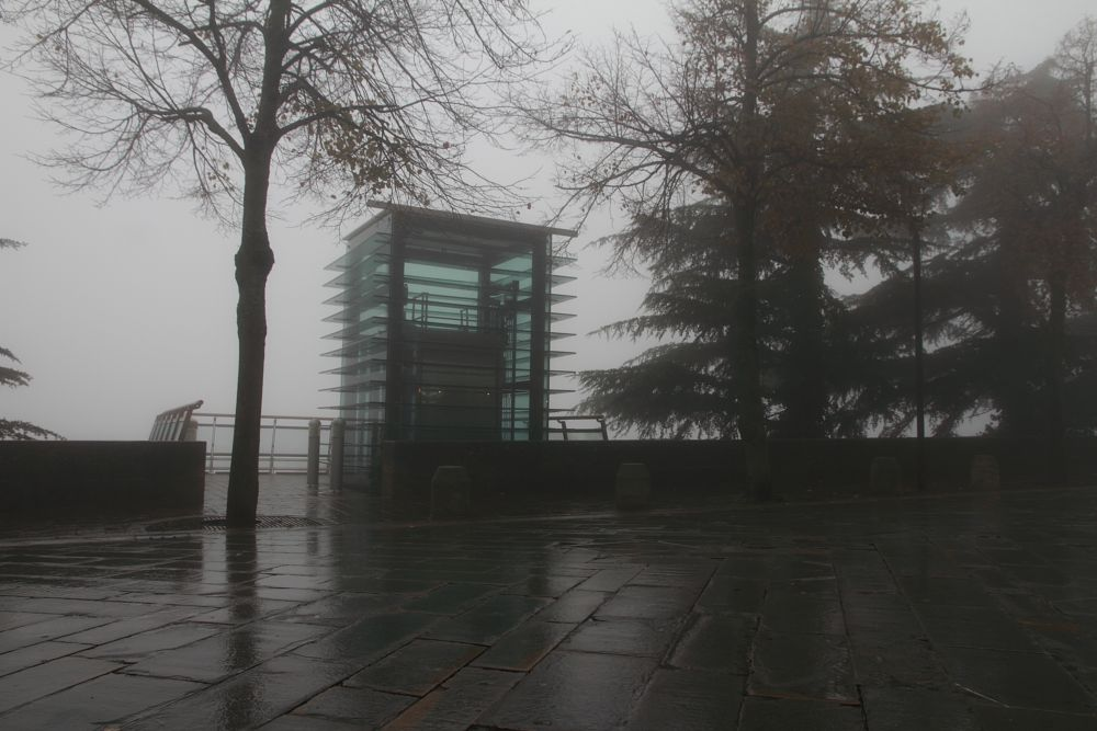 Photo in Random #lift #fog #raining #no people #design