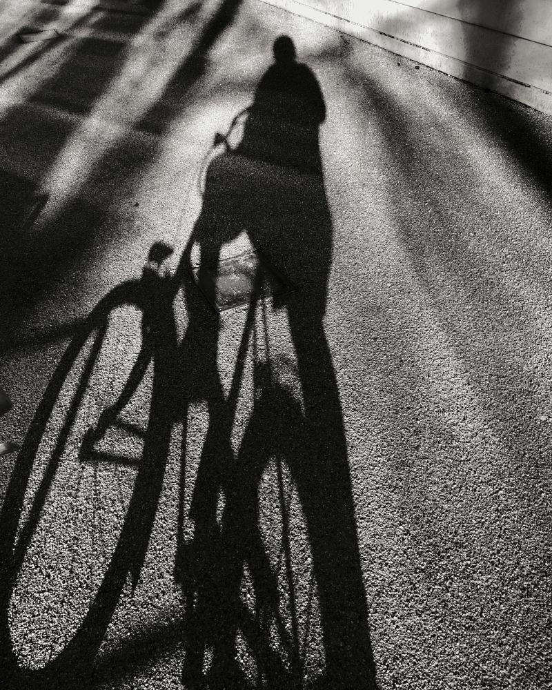 Photo in Random #blackandwhite #bike #schatten #shadow
