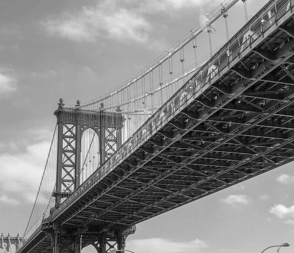Photo in Black and White #new york #manhattan #manhattan bridge #cityscape #journey #new york city #bridge #landscape
