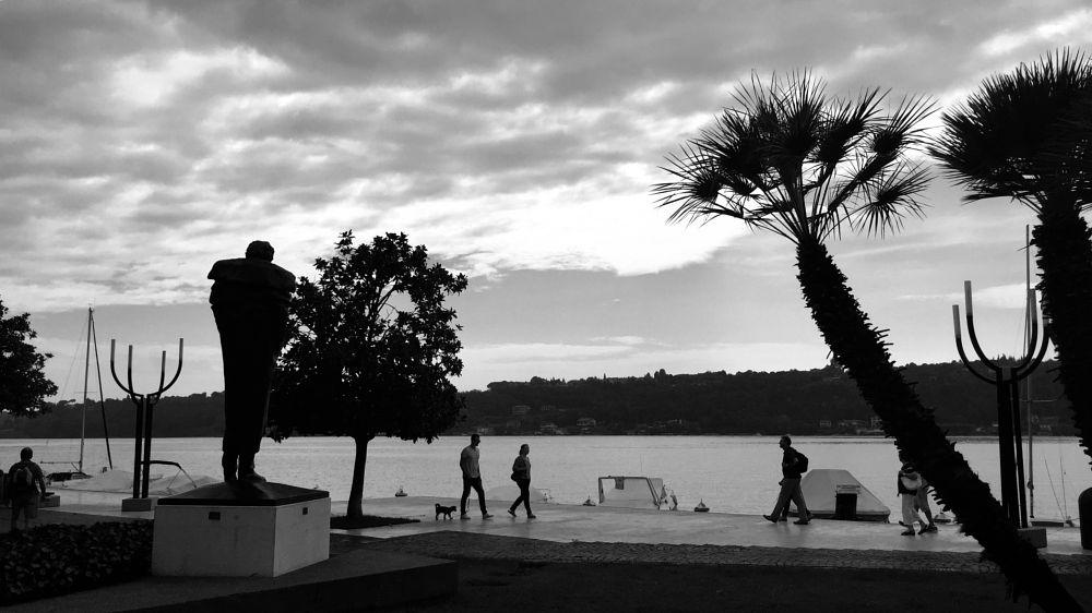 Photo in Black and White #gardalake summer travel wan