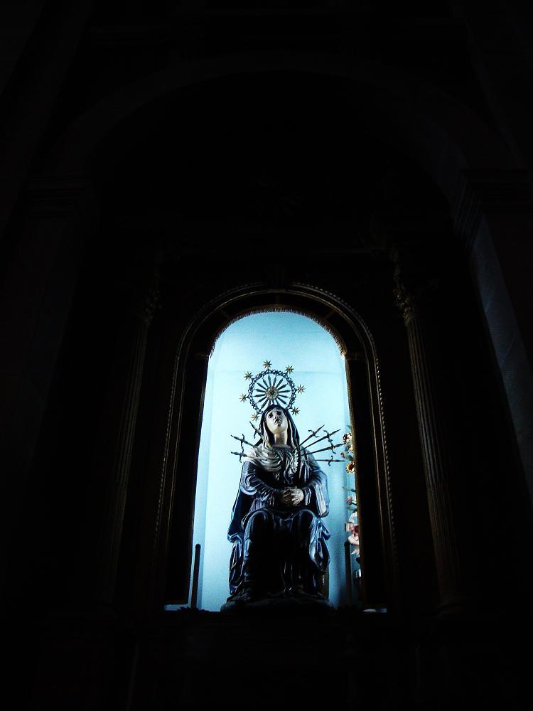 Photo in Random #lady #sorrows #saint #portugal #braga #religion #blue #black