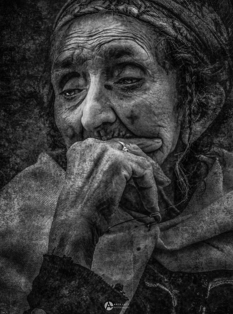 Photo in Portrait #portrait #photo #pic #picture #photography #old #women #wrinkles #look #eye #eyes #black and white #black #white #shadow #photoshop