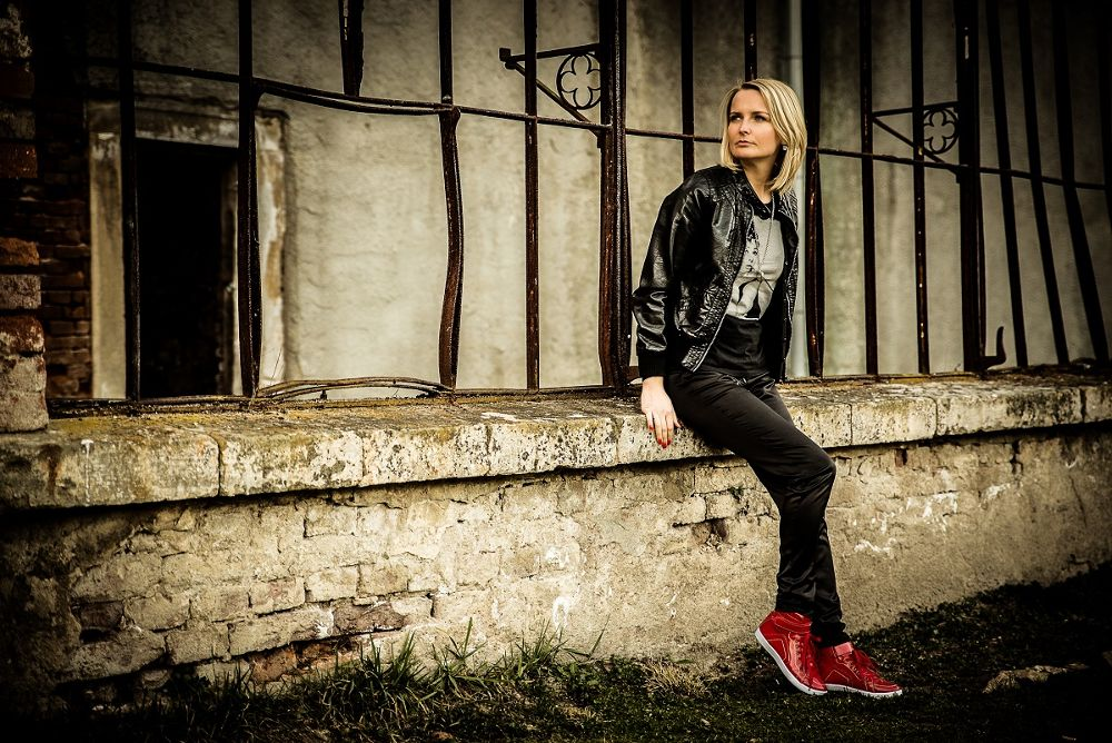 Photo in Portrait #castle #portrait #honey #love #sweet #red #shoes #black #black¨