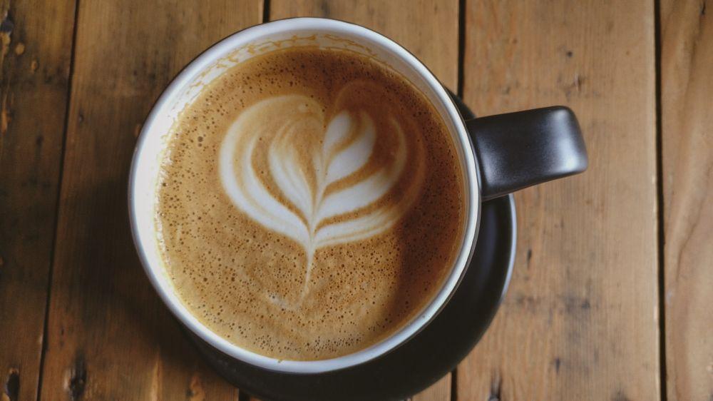 Photo in Still Life #mocha #coffee #mug #table #wood #caffeine #chocolate