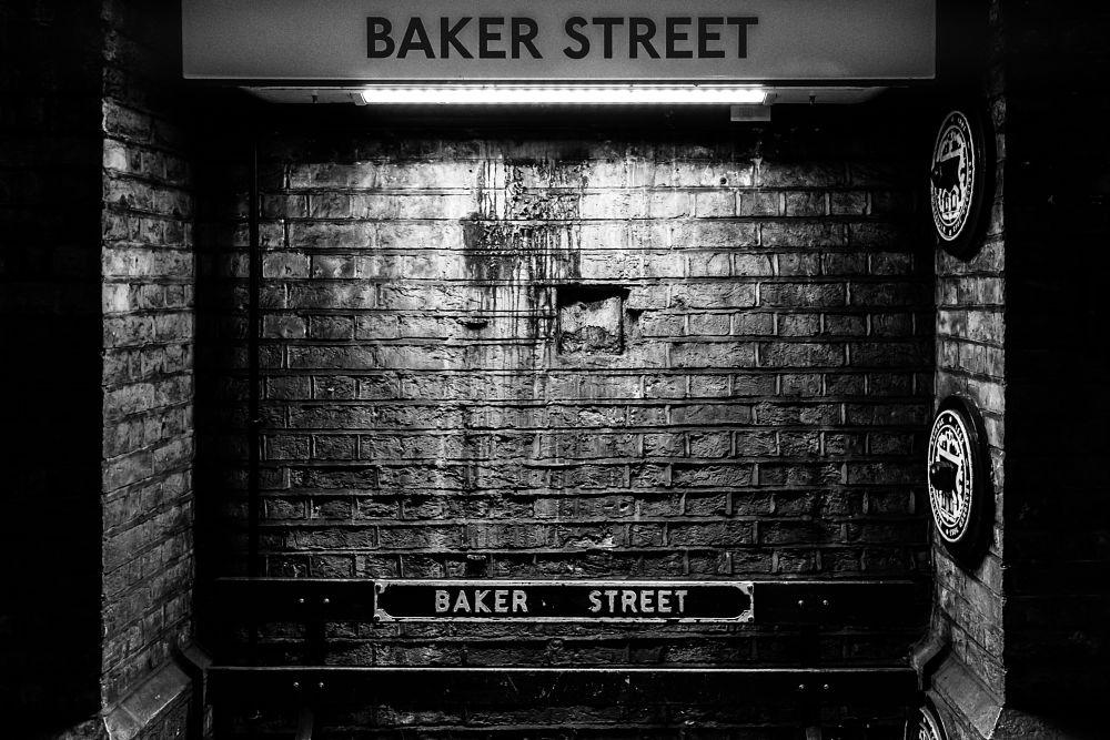 Photo in Black and White #underground station #baker street #black and white #travel