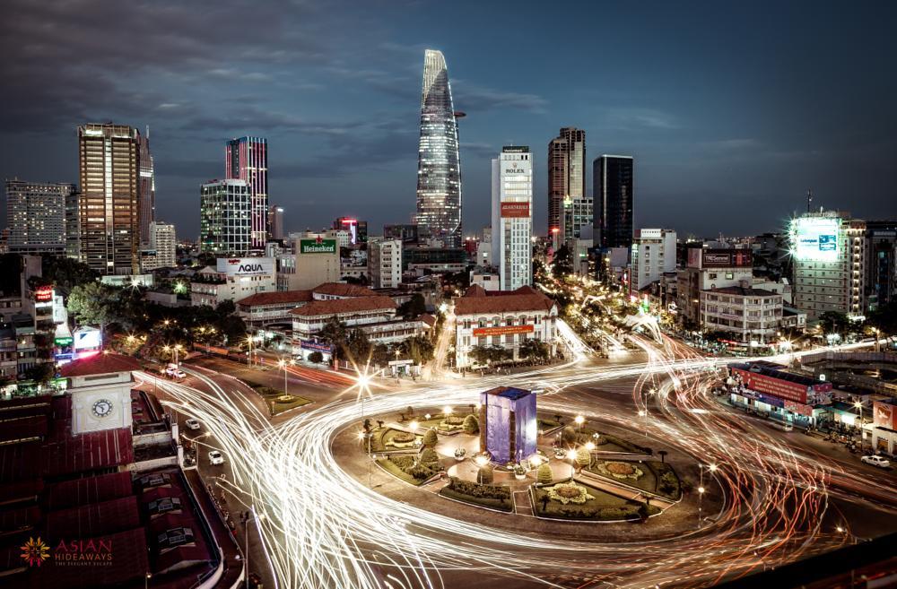 Photo in Cityscape #city #city line #city scape #hcmc #night #cityscape #cityline