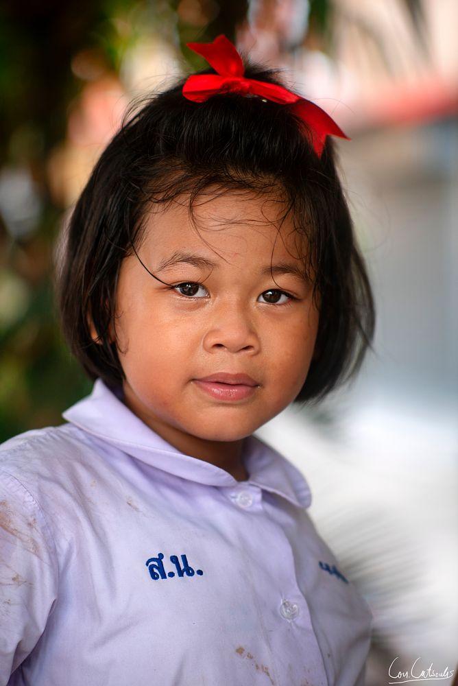 Photo in People #girl #kids #children #schoolgirl #school #portrait #southeastasian #thai #thailand