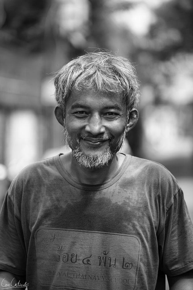 Photo in People #man #portrait #b&w #thai #thailand
