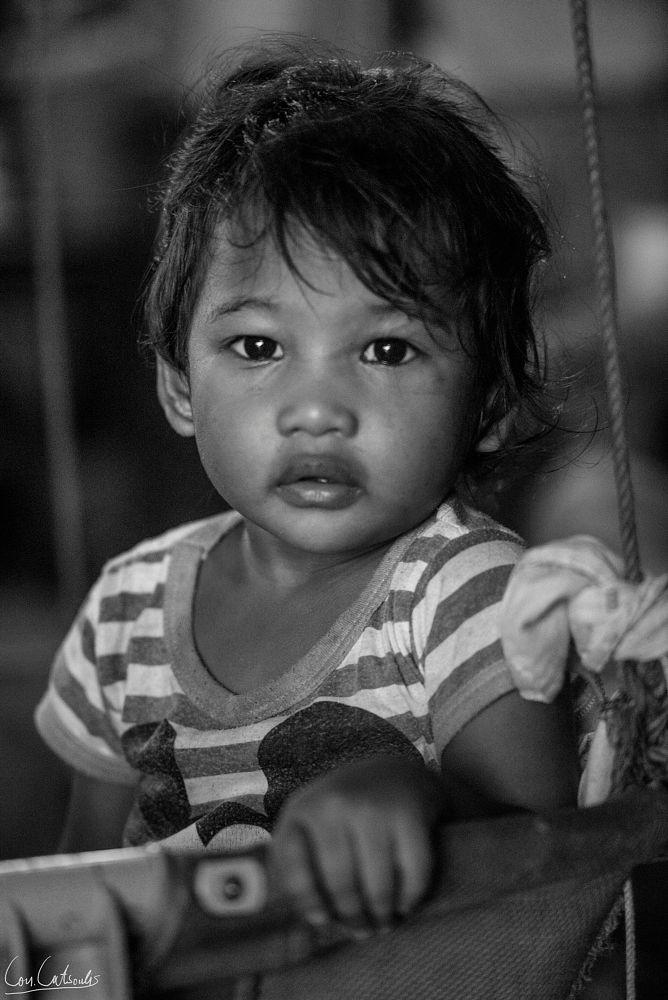 Photo in People #girl #children #kids #portrait #b&w #southeastasian #thai #thailand