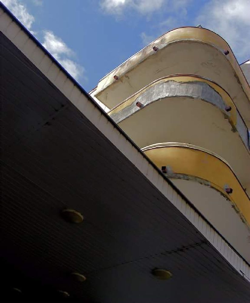 Photo in Architecture #modernism #navy #service #gdynia #balconies