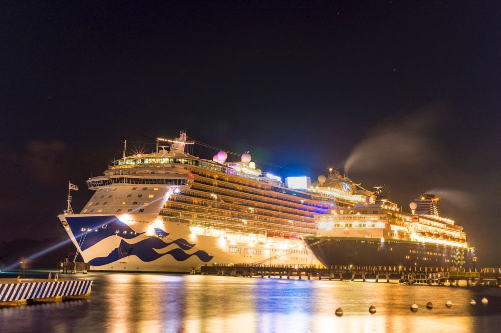 Photo in Cityscape #croisieres #luxury #norweigian #night potography #long exposure #reflections #outdoors #citylights