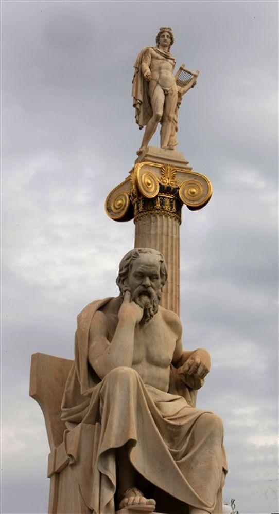 Photo in Random #and #apollo #socrates #statues