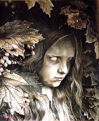 Photo in Portrait #jeune fille #feuilles de vigne
