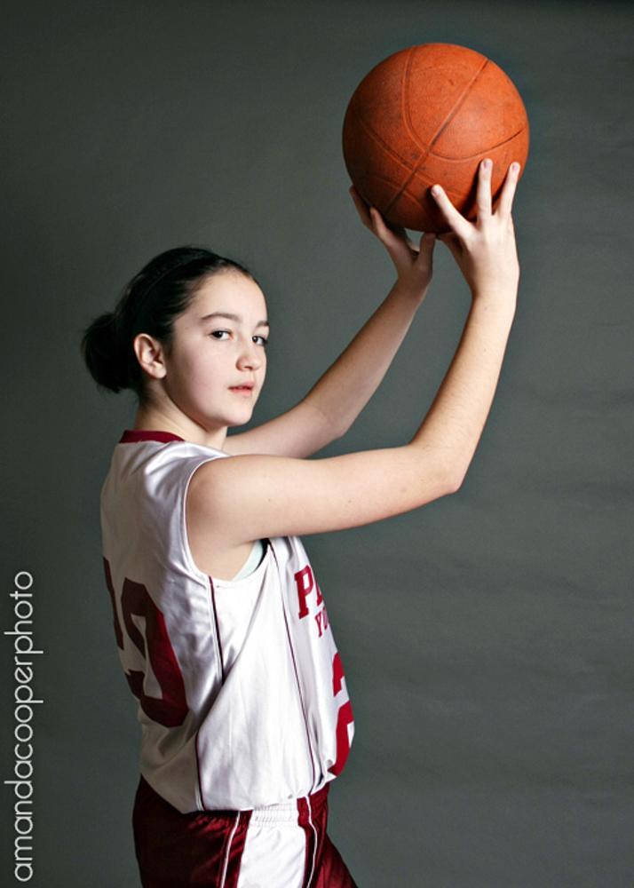 Photo in Sports #basketball #senior #women in sports #shoot #ball