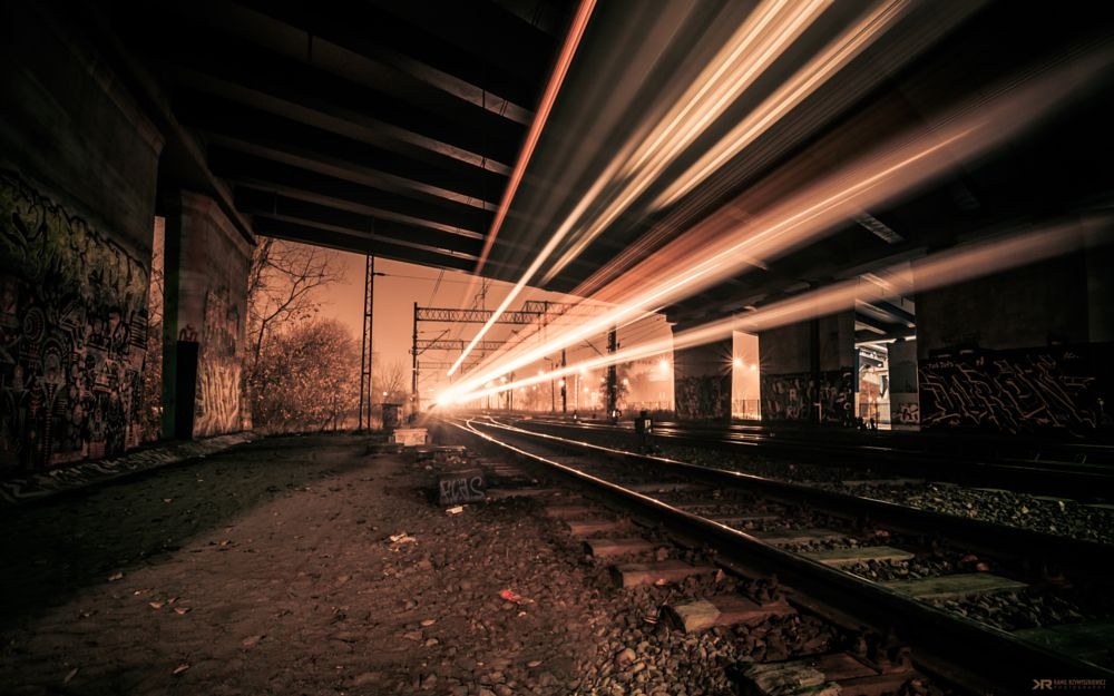 Photo in Abstract #train #light #underground #poland