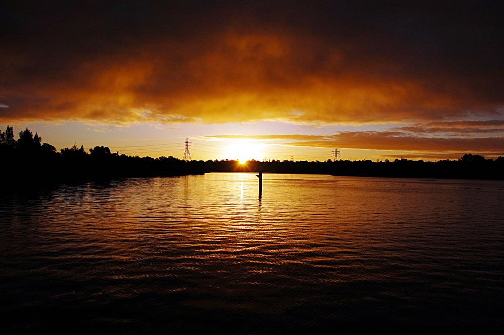 Photo in Landscape #sunset #sun #setting #orange #golden #river #sydney #australia #nikon