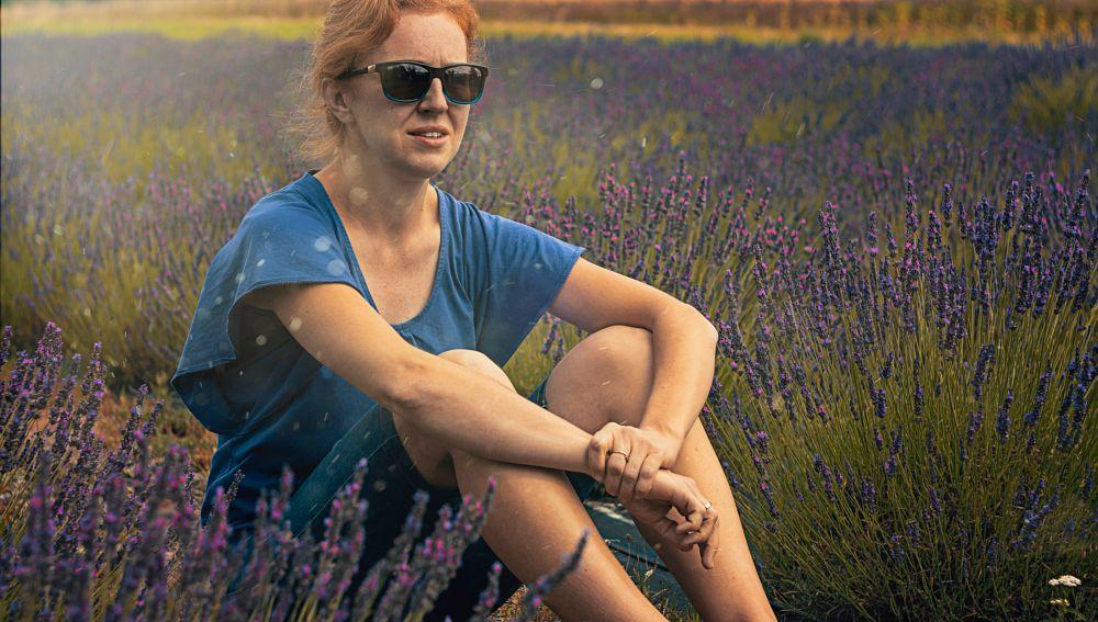 Photo in Portrait #women #portrait #lavender #outdoor #nature #wife