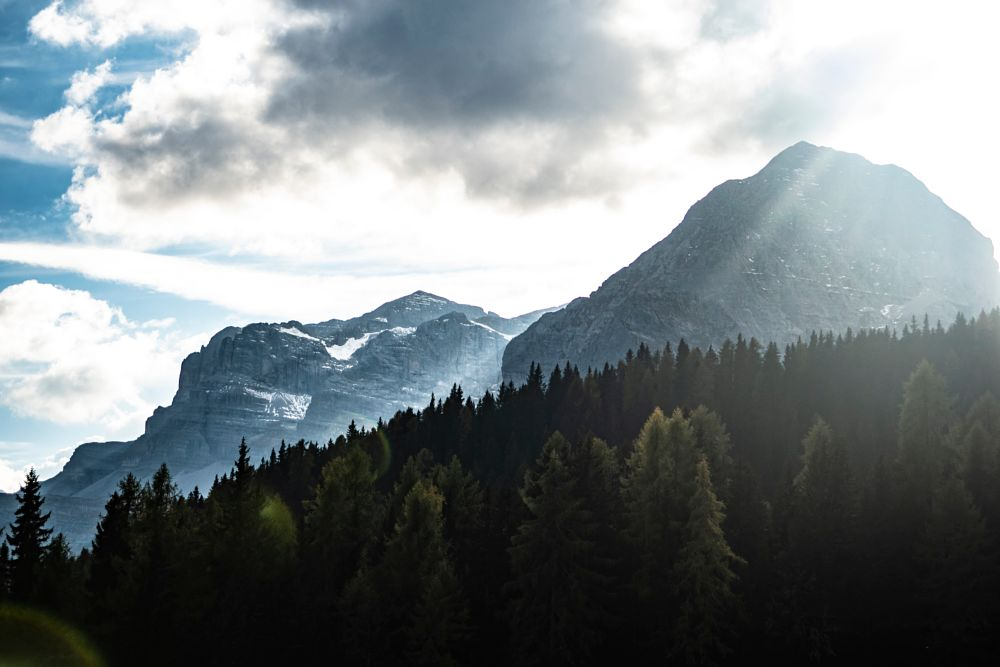 Photo in Random #landscape #concept #italy #mountains #nature #light #trees #sun