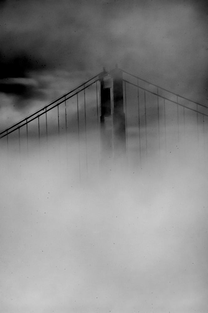 Photo in Black and White #black and white #fine art #architecture #bridges #golden gate bridge