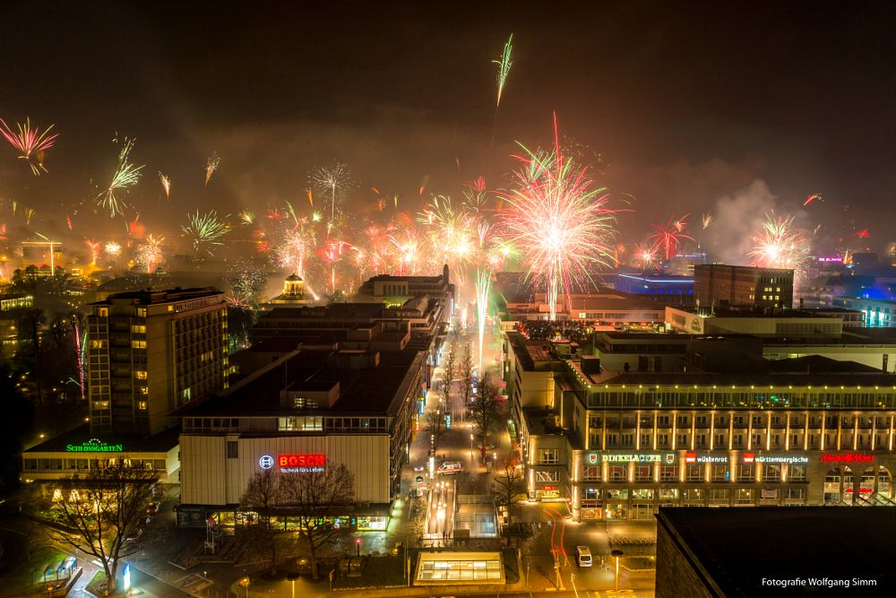 Photo in Cityscape #fireworks #new year´s eve #stuttgart #germany #party #city #holiday #night #nightlife