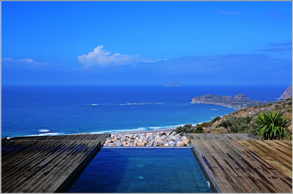 Photo in Sea and Sand #crete #greece #sea #blue #sky #nikon