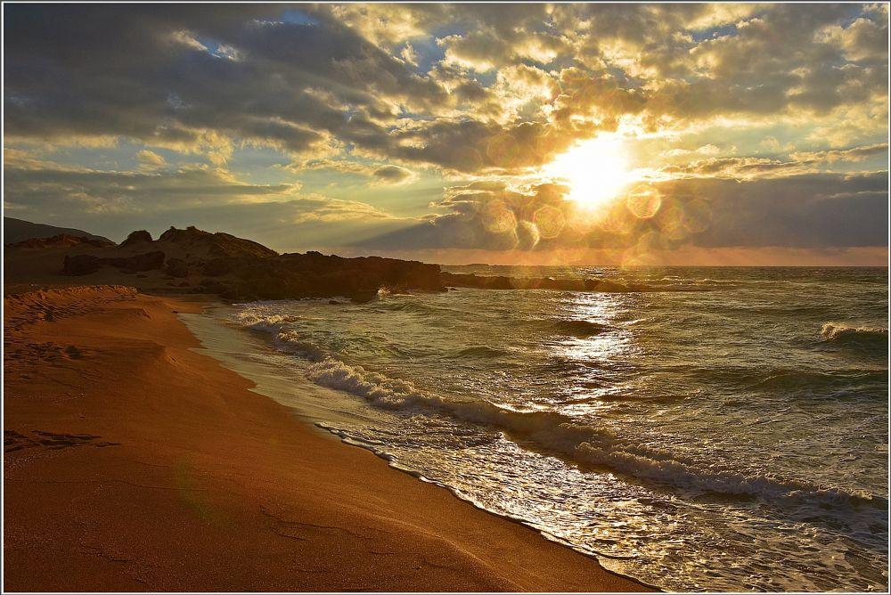 Photo in Sea and Sand #sea #sky #greece #crete #sunset