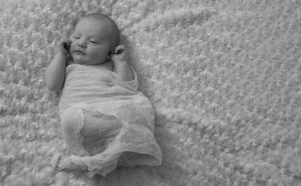 Photo in Black and White #baby #newborn #newborn photography #black and white #girl