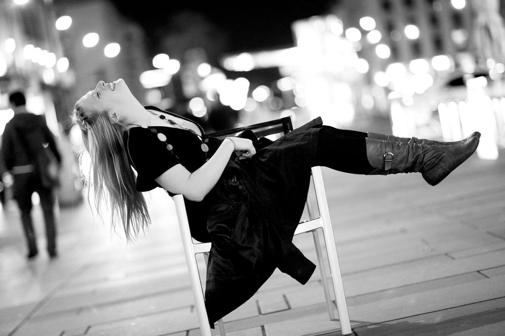 Photo in Black and White #enjoy #live #city #vienna #lean #chair #street