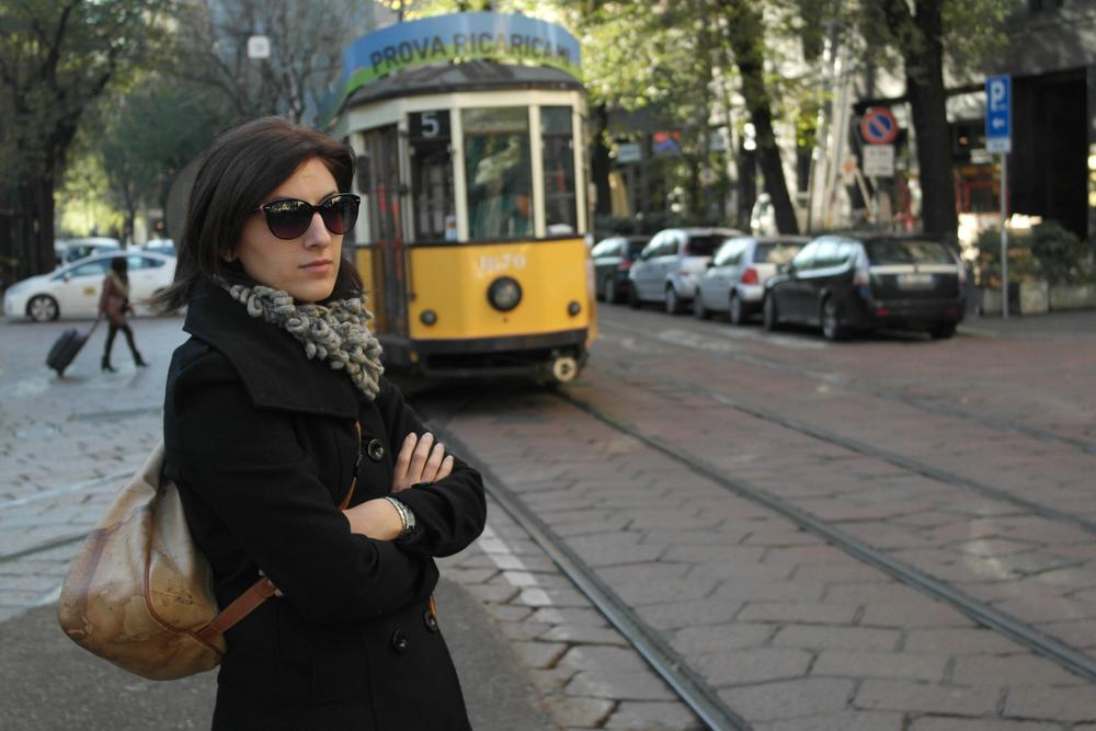 Photo in Urban #moglie #wife #tram #milano #milan #city #urban #railway