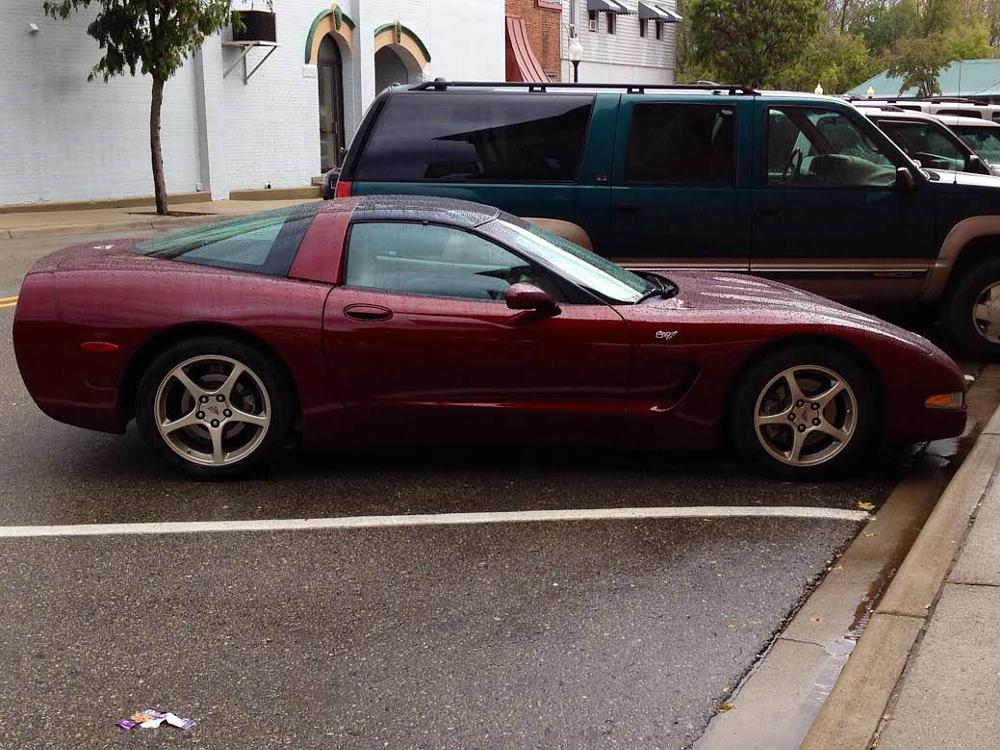 Photo in Vehicle #corvette #car #rain