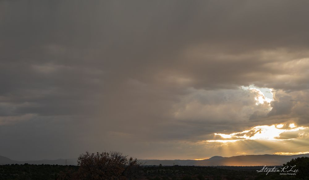 Photo in Landscape #clouds #home #landscape #lightning #new mexico #sky #sunset #thunderstorm #weather