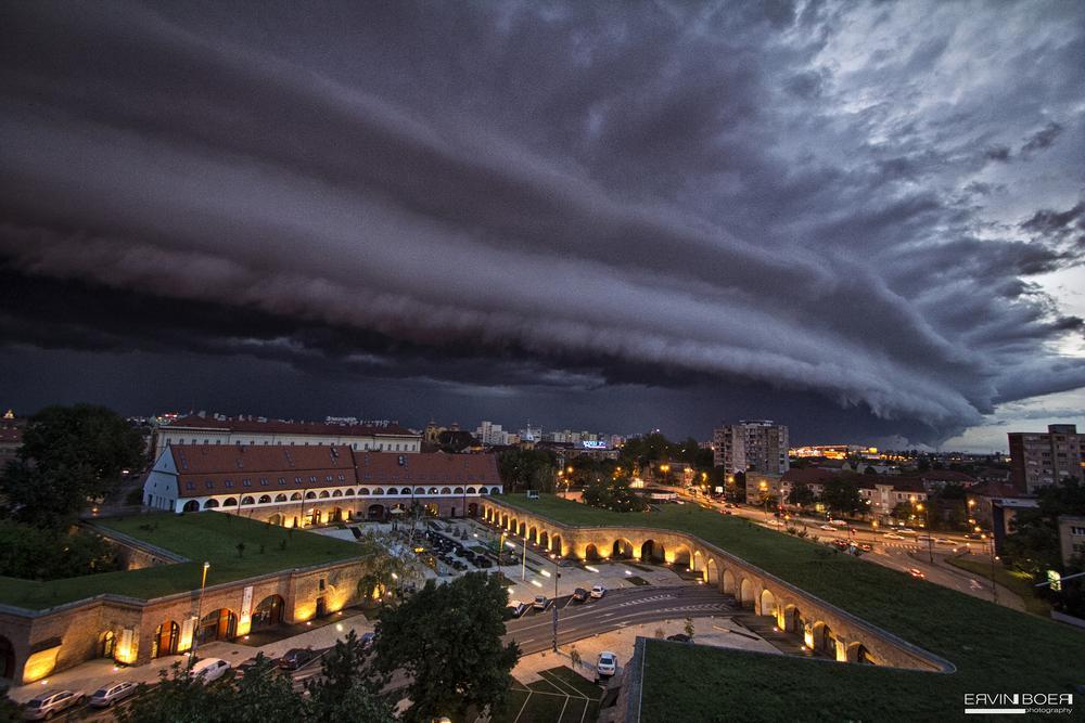 Photo in Architecture #shelf cloud #apocalipse