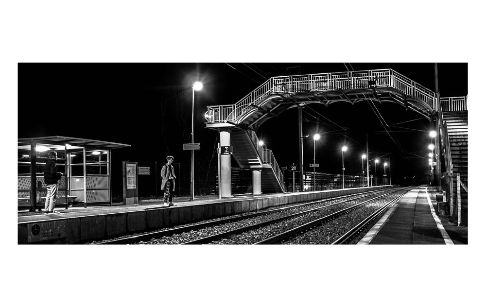 Photo in Random #train #station #night #dark #darkness #beautiful #black #white #nikon #pic #picture