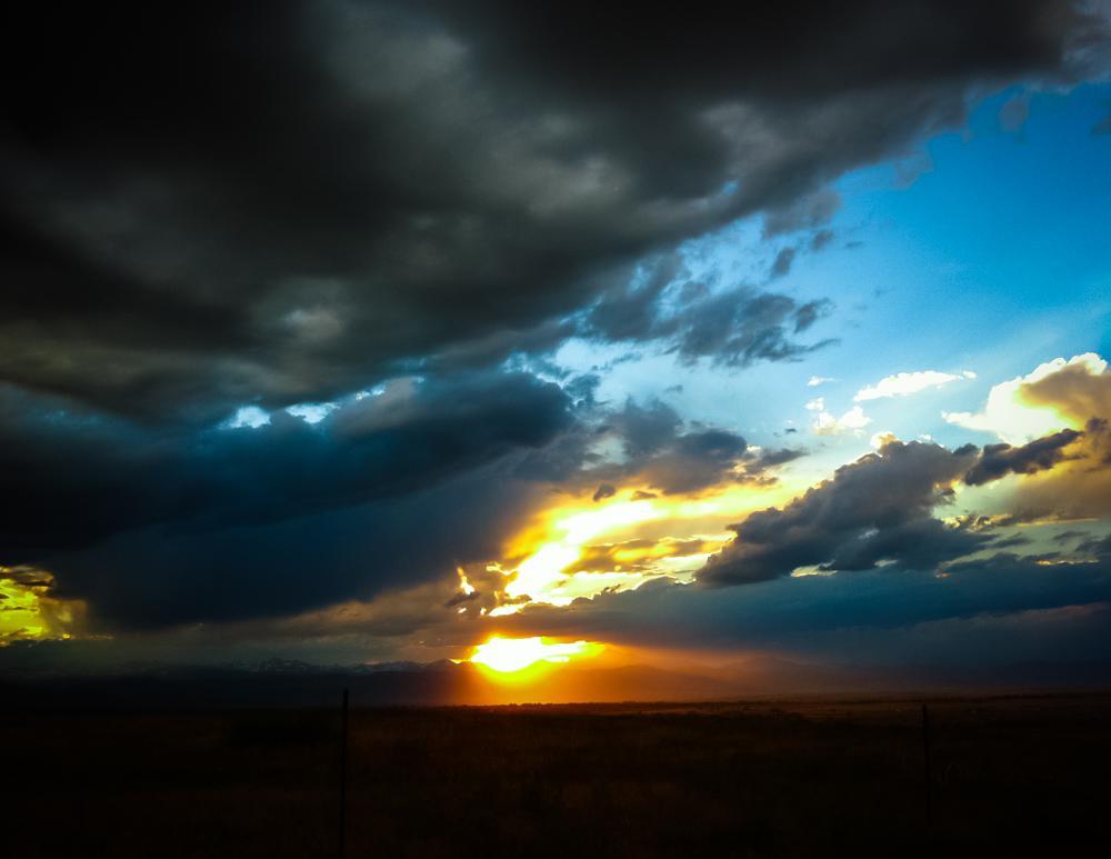 Photo in Landscape #landscapes #bestof2014 #mountains #sunset #dusk #denver #colorado #storm #blue skies #sky