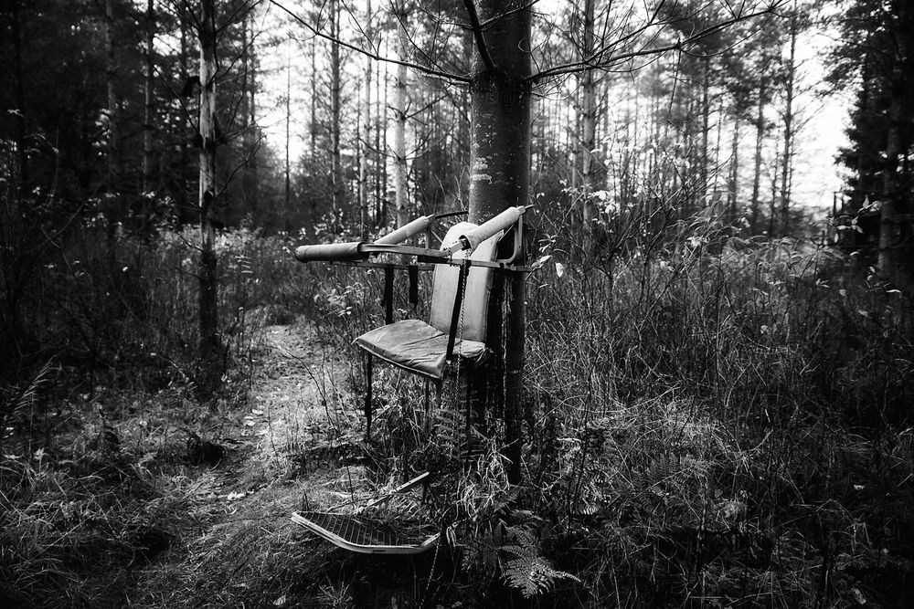 Photo in Random #landscape #stillife #seat #chairs #nature #blackandwhite #woods #woodland #forest #art #artwork #design