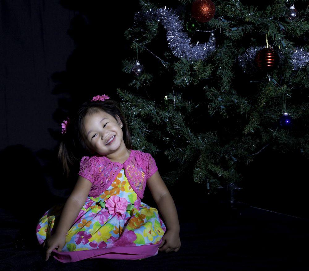 Photo in People #christmas tree #baby #santa #december #ornament