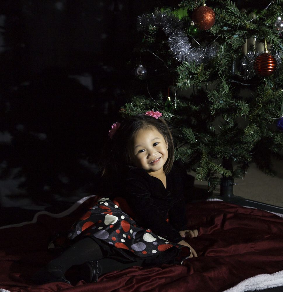 Photo in People #christmas #christmas tree #baby #red