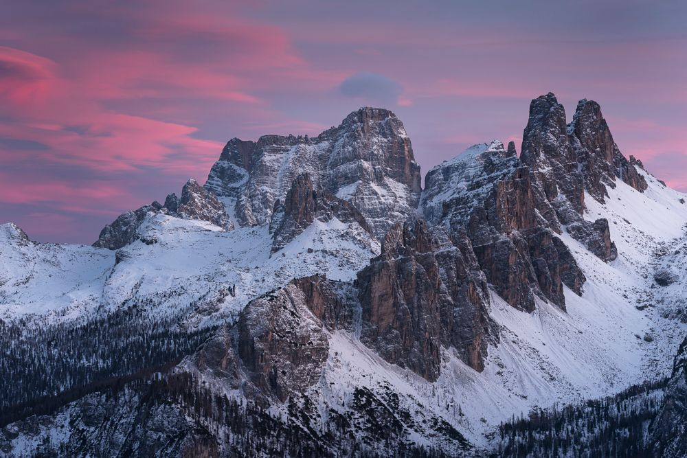 Photo in Landscape #dolomites #alps #mountains #hiking #landscapes #landscaper #sunset #light #pink #rocks #peaks #italy #unesco