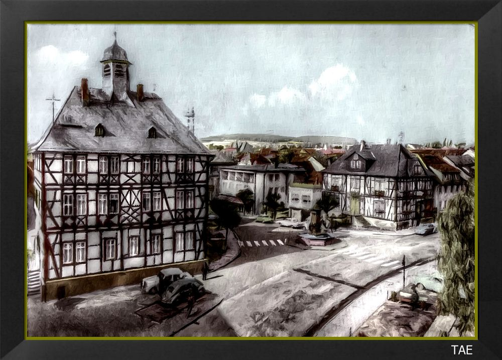 Photo in Random #art #oil #painting #hall #town #old #photo #germany #fine #hesse #canvas #usingen #taunus